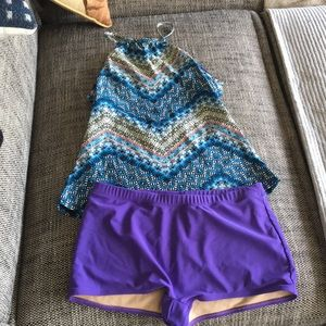 Mixed Matched Bathing Suit. Worn.